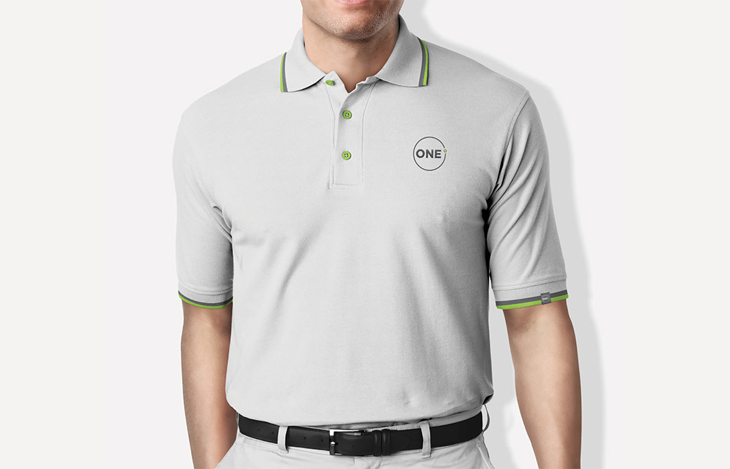 One-Degree-Logo-Design-Embroidered-On-Golf-T-Shirt