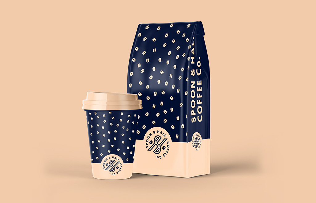 Spoon-and-Half-Coffee-Shop-Branded-Coffee-Bag-Packaging-Design
